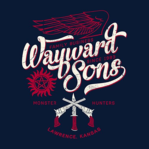 Supernatural Wayward Sons Womens Hooded Sweatshirt Navy Blue