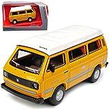 Schuco Volkwagen T3 Camper Bus Transporter Camping Gelb 1979-1992 1/64 Modell Auto