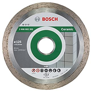 Bosch 2 608 602 202 – Disco tronzador de diamante Standard for Ceramic – 125 x 22,23 x 1,6 x 7 mm (pack de 1)