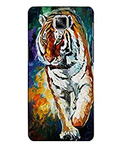 Citydreamz Tiger\Animal\Wild\Jungle Hard Polycarbonate Designer Back Case Cover For OnePlus 3