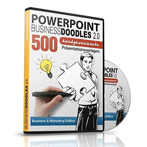 PowerPoint BusinessDoodles 2.0 - 500 Handgezeichnete Präsentationsvorlagen für PowerPoint (PC & Mac) -: Business & Marketing Edition