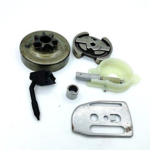 Shioshen 325 7 t Kupplung Trommel Öl Pumpe Worm Gear Bar Platte Kit für Kettensäge Husqvarna 136 137 141 142 36 41 530069342/530014949