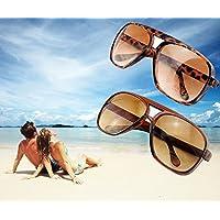 Denshine (TM) Unisexe Mesdames classique style Lunettes de soleil Miroir Shades Mode Lunettes de soleil Grenouille Léopard Marron foncé Noir, noir