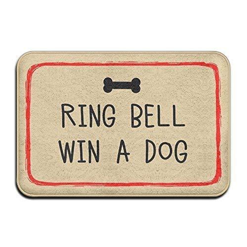 Ring Bell Win A Dog Super saugfähige Anti-Rutsch-Matte für Innen- und Außenbereich, Deko-Teppich, 61 x 40,6 cm (Ring The Bell Film)