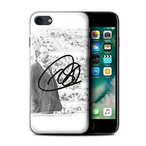 Offiziell Newcastle United FC Hülle / Case für Apple iPhone 7 / Skizze Muster / NUFC Rafa Benítez Kollektion Autogramm