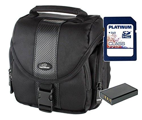 Sparset Fototasche Esperanza ET145 Tasche schwarz + Ersatz-Akku DMW-BLC12 + 16GB SD...