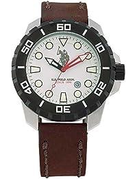 Reloj de pulsera para hombre U.S. Polo Assn. Eagle usp4257wh Marrón Piel