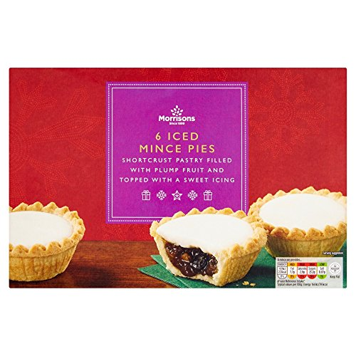 Morrisons Iced Topped Mince Pies, 6 pies Test