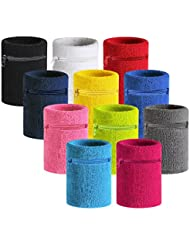 VENI MASEE Sport Dick Solid Color Armband mit Reißverschluss / Wrist Wallet , Preis / Stück
