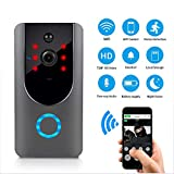 HUIJIN1 Drahtlose Video Doorbell, WiFi Smart Doorbell 720P HD Wide-Angle Lens Door View Security Camera PIR Motion Detection und App Remote Control für iOS und Android