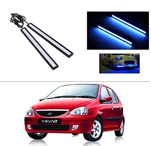 AutoStark Daytime Running Lights Cob LED DRL (Blue) Tata Indica V2 Xeta  available at amazon for Rs.249