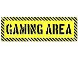 METALLSCHILD Retro Blechschild Dekoschild Türschild GAMING AREA Geschenk Gamer