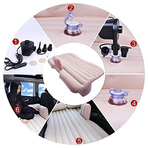 Tishnagi Designer Multifunctional Inflatable Car Bed Mattress with Two Air Pillows, Car Air Pump and Repair Kit (Multi Coloration) Image 6