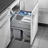 Hailo Euro Cargo S Küchen-Abfalleimer, Plastik, Grau One Size
