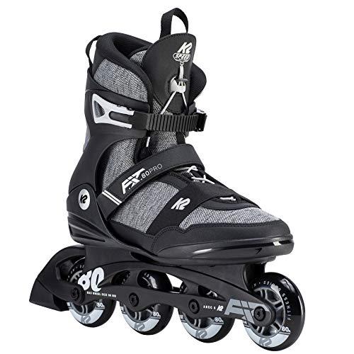 K2 Herren Inline Skates F.I.T. 80 PRO - Schwarz-Grau - EU: 45 (US: 11.5 - UK: 10.5) - 30D0771.1.1.115