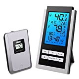 Oria Wireless Temperature Monitor Indoor Outdoor, LCD Digital Thermometer with Min/Max Temperature Daily