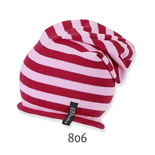 Sterntaler - Beanie Fille transition Chapeau rayé, rouge Rouge