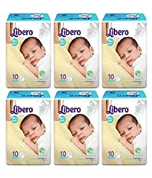 Libero Open New Born Size Diapers (10 Counts) - Pack Of 3