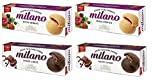 Parle Combo Milano Mixed Berries Cookies - 2 & Milano Choco Delight - 2 (Pack of 4) + Free 5 Pouches of Rajnigandha Silver Pearls - Sold by SB™