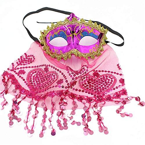 Zolimx Maskerade Maske Partei Maske Spitzenmaske Halloween Maskerade Maske Prom Party Maske Zubehör (Einfach Pink Panther Kostüm)