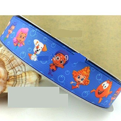 2,5cm Breite Bubble Guppies Ripsband von der Yard (91,4cm) Brilliant für Kuchen Bänder, Schnuller Clips Haar Geschenkpapier (Bubble Deema Guppies)