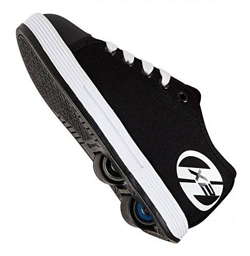 Heelys , Chaussures de skateboard pour fille noir/blanc