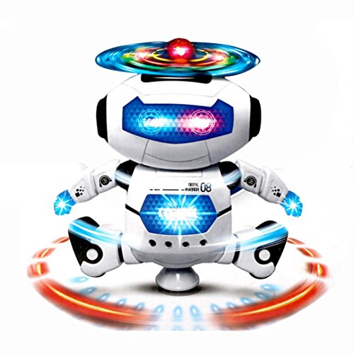 Keepwin Electronic Walking Dancing Smart Space Robot Astronaut Kids Electronic Pets Fun Dancing Robert Electronic Toys With Music Lightening Toys Gift For Kids Children Music Light Toys