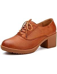 Zapatos de las señoras de primavera/Versión coreana con zapato blanco pequeño/ Es un tendón grueso zapatos/Zapatos ocasionales/Zapatos de cuero