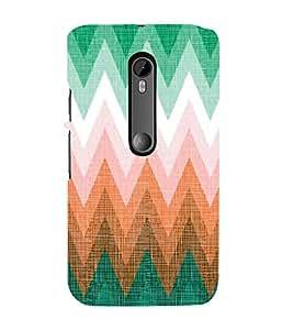 FUSON Zigzag Colorful Geometric Lines 3D Hard Polycarbonate Designer Back Case Cover for Motorola Moto G Turbo Edition :: Virat FanBox Moto G Turbo Virat Kohli