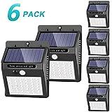 [42 LED / 3 Modos ] SEZAC Luces solares Luces con sensor de movimiento solar para exteriores