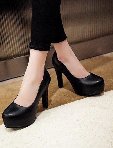 WSS 2016 Chaussures Femme-Bureau & Travail / Habillé / Décontracté-Noir / Rose / Blanc-Talon Aiguille-Talons-Talons-Similicuir black-us6 / eu36 / uk4 / cn36