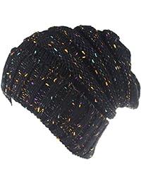 TININNA Calot Hiver Chaud Bonnet Chapeau Laine Tricoté Turban Capuchon  Baggy Beanie Skullcap Headdress Coiffe Cap a2fbc93ebf9