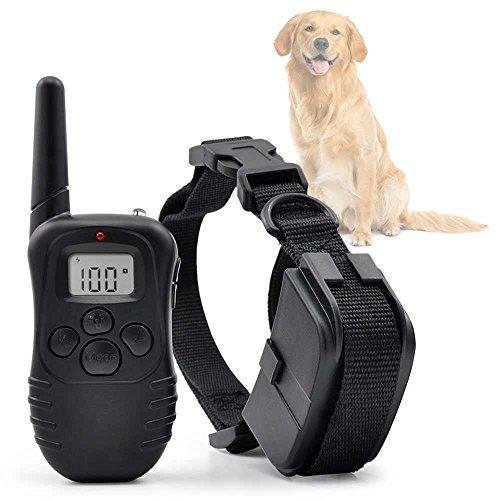 Ociodual Collar de Adiestramiento para Perros Vibracion y Pitido, Antiladridos/Entrenamiento con Mando...