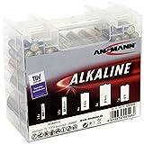 ANSMANN pile alcaline-multi rouge  boîtes à piles micro aAA/aA mignon/5 x 4 x baby c/mono d - Boîte de 35