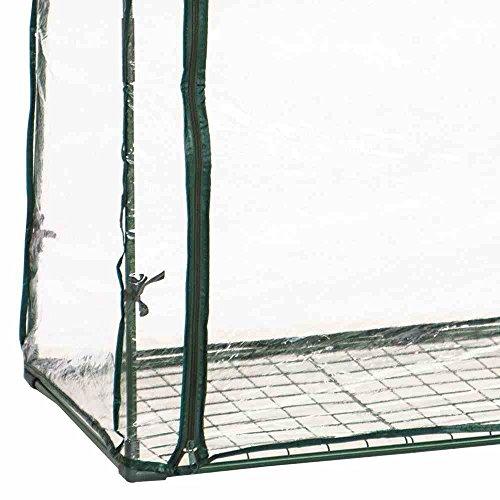 Siena Garden 569212 Tomaten-Gewächshaus grün ohne Rollen, 100x50x150cm