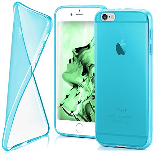 MoEx iPhone 6S Plus Hülle Silikon Transparent Türkis [OneFlow Clear Back-Cover] TPU Schutzhülle Dünn Handyhülle für iPhone 6 Plus/6S + Plus Case Ultra-Slim Silikonhülle Rückseite