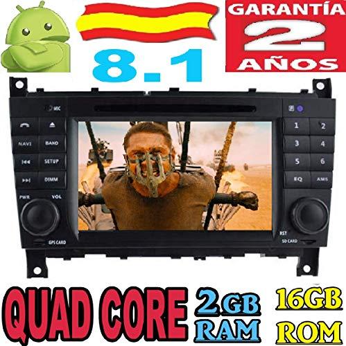 "Mercedes-Benz C Class (2004-2007) CLC W203 (2008-10) G-Class W467(2005-2007) Android 8.1 Quad Core 2GB RAM 16 GB ROM GPS Radio Coche DVD AUTORADIO WiFi 3g 4g navi navegador Dab+ 7"" HD Internet"