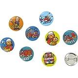8 Mini Button * Feuerwehr * mit Anstecknadel vom Lutz Mauder Verlag // 67229 // Kinder Geburtstag Mitgebsel Geschenk Party Buttons Set Feuerwehrmann Feuerwehrauto