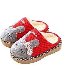 KuaiLu Cute Bunny Slide Slippers Booties Shoes Fluffy Foam Anti Slip for  Boys Girls Little d2b2681f353