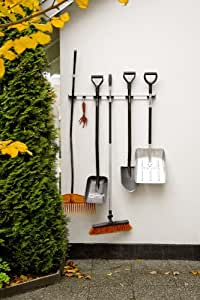 toolflex wandhalterung f r 5 gartenger te 90 cm wei baumarkt. Black Bedroom Furniture Sets. Home Design Ideas