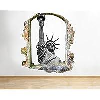 tekkdesigns C963Estatua Libertad New York City sightsee Smashed adhesivo pared 3d arte pegatinas vinilo habitación