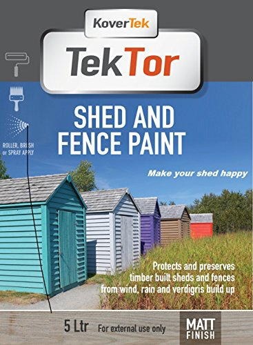 TekTor Shed & Fence Paint (5lt Matt, Mist Grey)