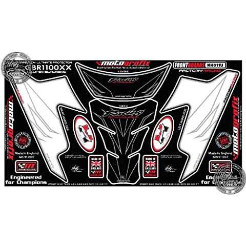 Honda CBR1100X X CBR 11001997–2007Número Junta numberboard motografix 3d gel Protección Pantalla