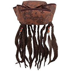 Sombrero con peluca de capitán Jack Sparrow.