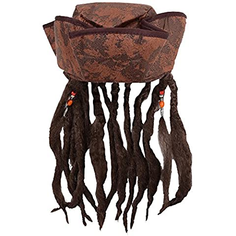 Costume Pirate Hat - Deguisement Chapeau de Pirates des caraibes marron