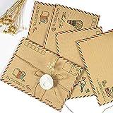 Luftpost-Briefumschläge,Retro Luftpost umschläge,Postkarte Papier Umschlag Geschenk Set für Grußkarte, Reise-Hochzeitseinladung