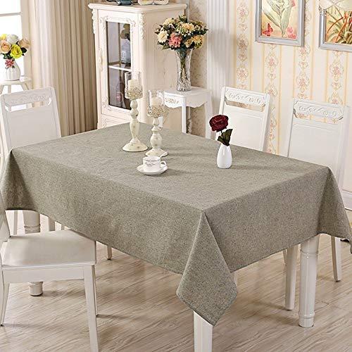 Moderne einfache Farbe gewebt Baumwolle und Leinen einfarbig rechteckige Tischdecke Couchtisch Tischdecke tablecloth clips for tables (Color : Green, Size : 140X140CM) (Baumwolle Gewebte Tischdecke)