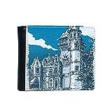 DIYthinker Altes Schloss Mittelalterliche Ritter von Europa Emblem Flip Bifold-Leder-Mappen-Multifunktions-Karten-Geldbeutel-Geschenk One_Size Mehrfarbig