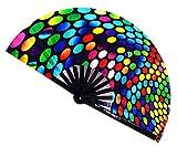 STHUAHE, Grande ventaglio Pieghevole, cinease/Giapponese, ventaglio da Donna Pieghevole a Mano per Prestazioni, Accessori per Festival Musicali, Decorazioni per la casa, Danza, Feste, Regalo, Colour5