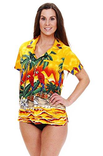 Funky-Camisa-Hawaiana-Parrot-yellow-5XL